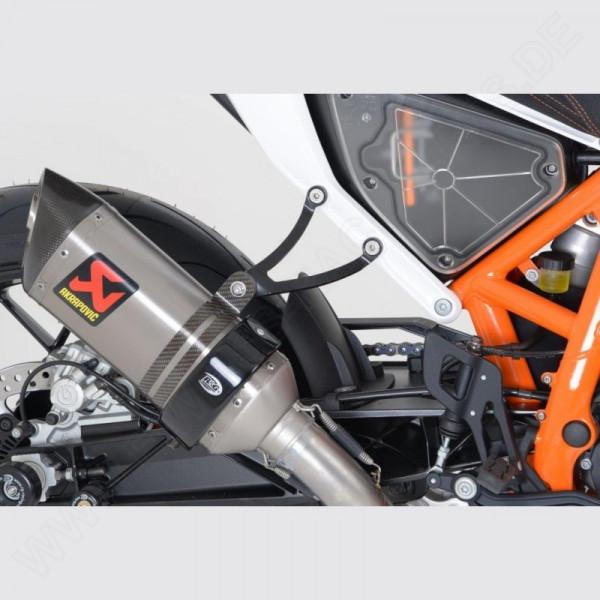 R&G Racing Exhaust Hanger BLACK KTM Duke 690 / 690 R 2012-