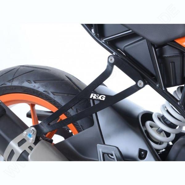 R&G Racing Auspuffhalter Set KTM RC 125 / 390 2017-