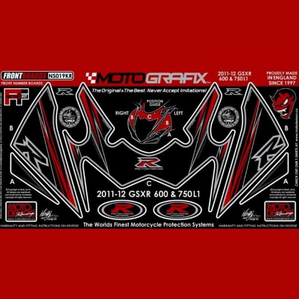 Motografix Steinschlagschutz vorn Suzuki GSX-R 600 / 750 2011- NS019KR