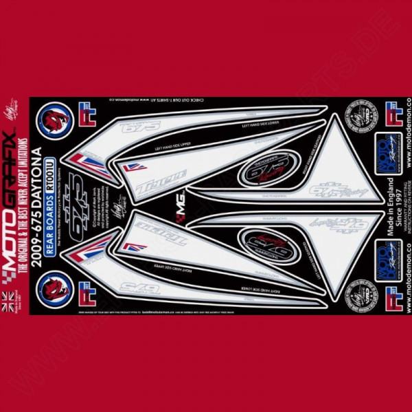 Motografix Steinschlagschutz hinten Triumph Daytona 675 2009-2012 RT001U