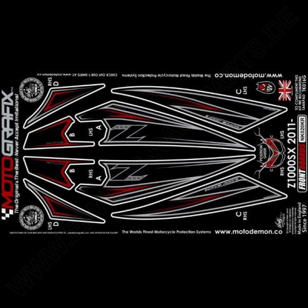 Motografix Steinschlagschutz vorn Kawasaki Z 1000 SX 2011-2016 NK020KR