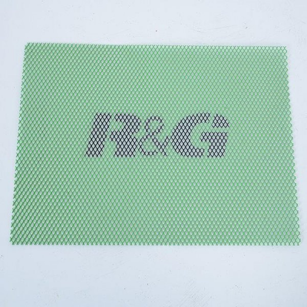 "R&G Racing Radiator Guard ""GREEN"" Universal Mesh 40,6 x 30,5 cm"