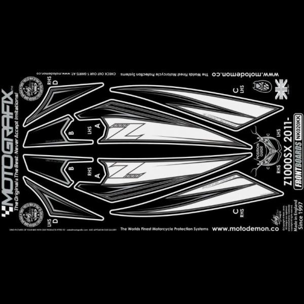 Motografix Steinschlagschutz vorn Kawasaki Z 1000 SX 2011-2016 NK020KK