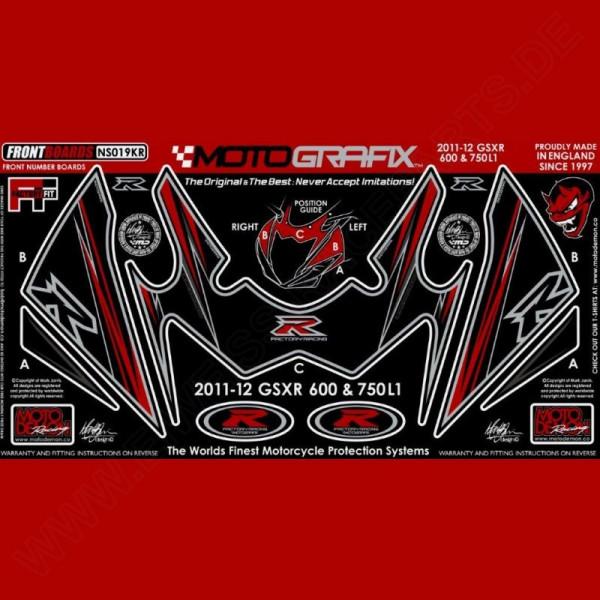 Motografix Stone Chip Protection front Suzuki GSX-R 600 / 750 2011- NS019KR