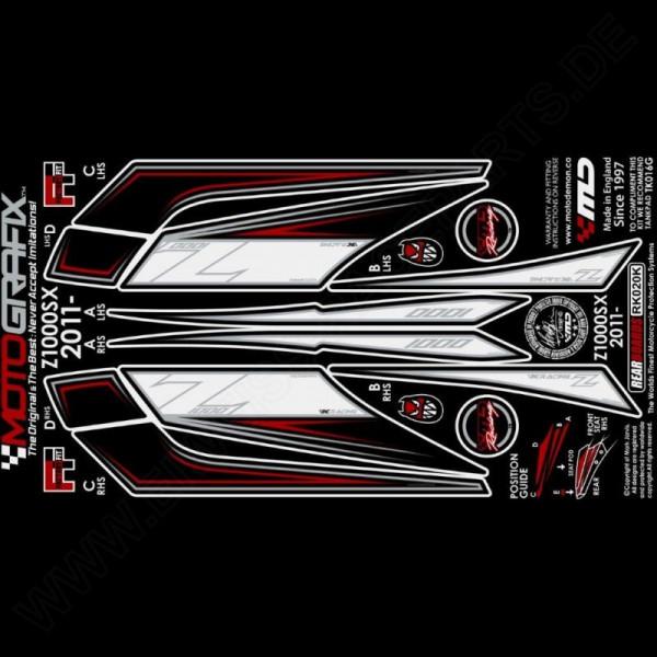 Motografix Steinschlagschutz hinten Kawasaki Z 1000 SX 2011-2016 RK020K