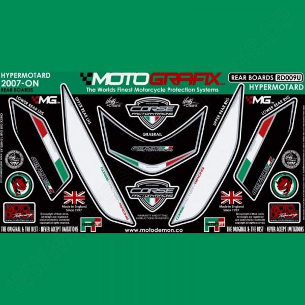 Motografix Steinschlagschutz hinten Ducati Hypermotard 1100 2007- RD009U
