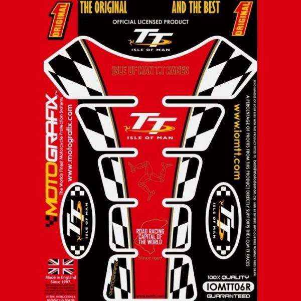 Motografix Isle Of Man TT Races Official Licensed 3D Gel Tank Pad Protector IOMTT06R