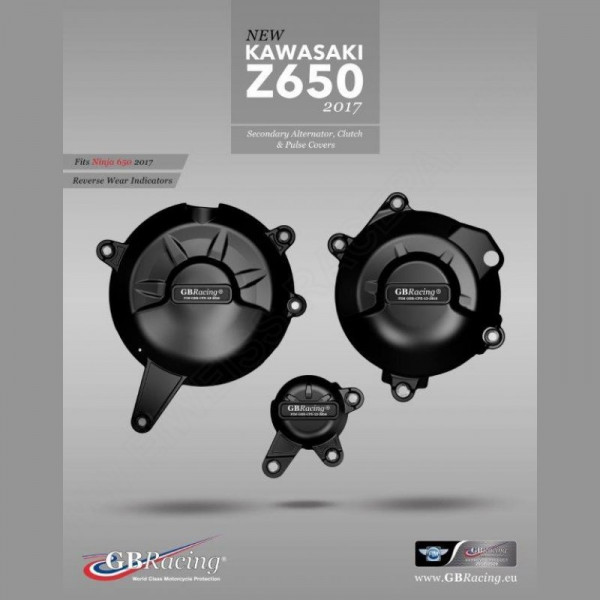 GB Racing Engine Cover Set Kawasaki Z 650 / Ninja 650 2017-