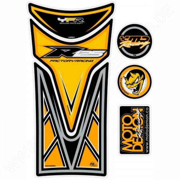 Motografix Yamaha YZF R 125 Yellow 3D Gel Tank Pad Protector TY017Y
