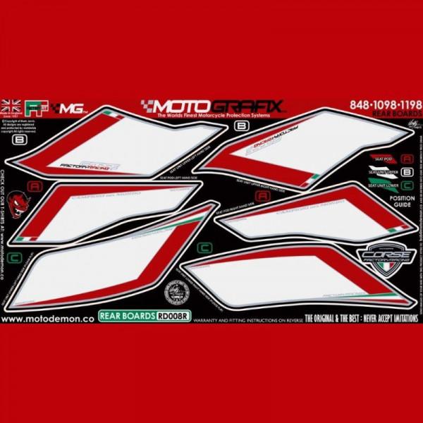 Motografix Steinschlagschutz hinten Ducati 848 / 1098 / 1198 RD008R