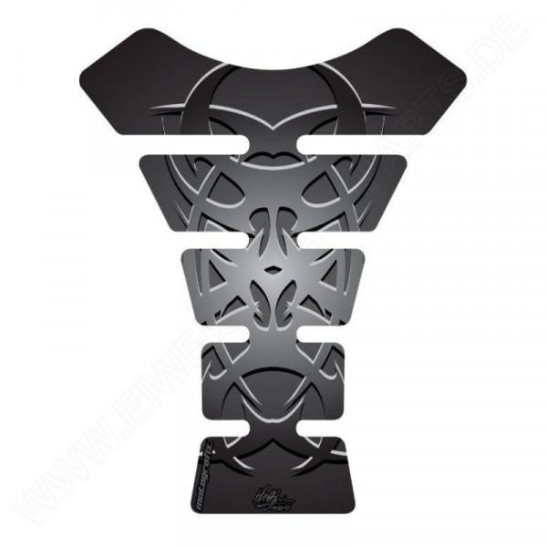 Motografix Celtic Tribal Tattoo Silver / Black 3D Gel Tank Pad Protector ST058KS