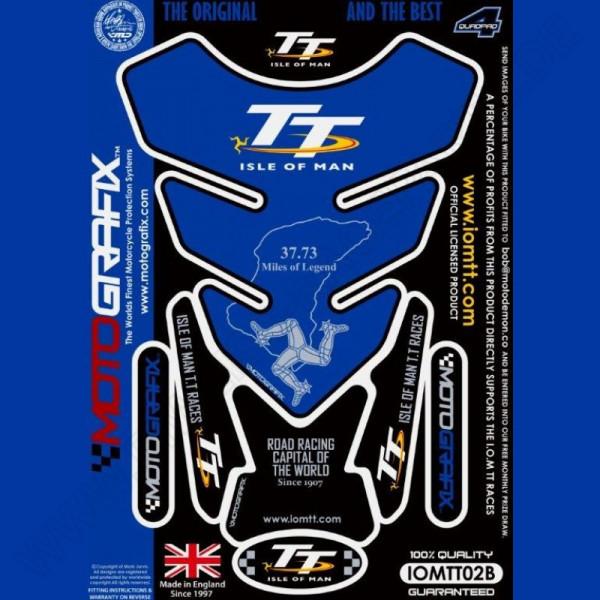 Motografix Isle Of Man TT Races Official Licensed 3D Gel Tank Pad Protector IOMTT02B