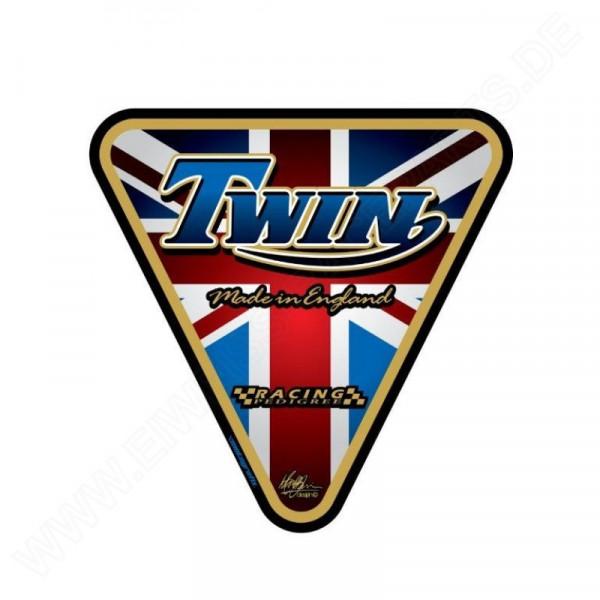 Motografix Triumph Twin Black / Gold 3D Gel Tank Pad Protector TT003J