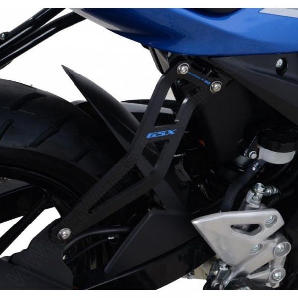 """R&G Racing Auspuffhalter Set """"BLUE"""" Suzuki GSX-S 125 / GSX-R 125 2017-"""