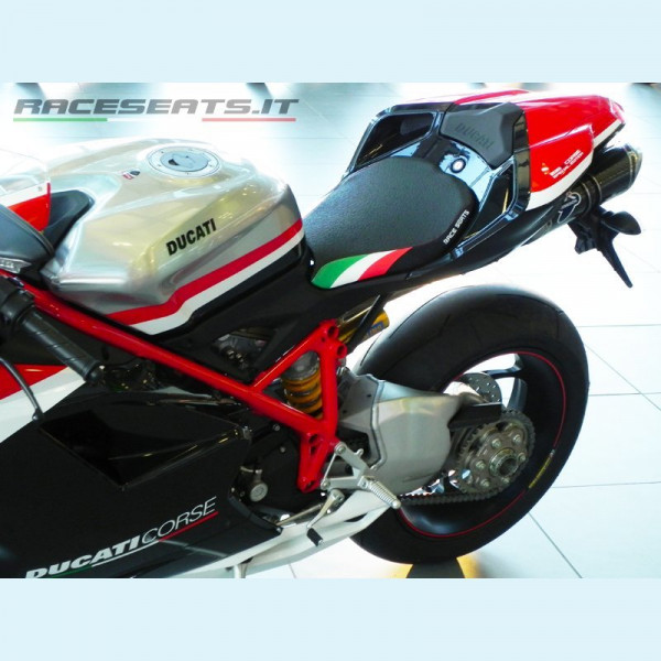 Ducati 848 / 1098 / 1198 Race Seat Luxury Tricolore Line