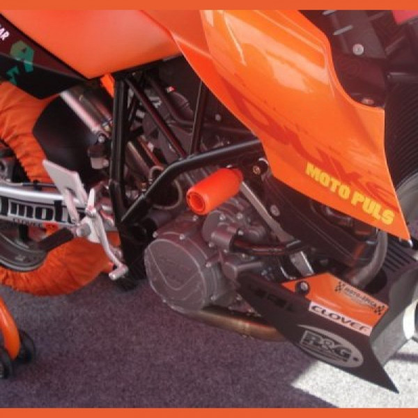 "R&G Racing Upper Crash Protectors ""No Cut"" KTM 950 990 Supermoto R / SMT"