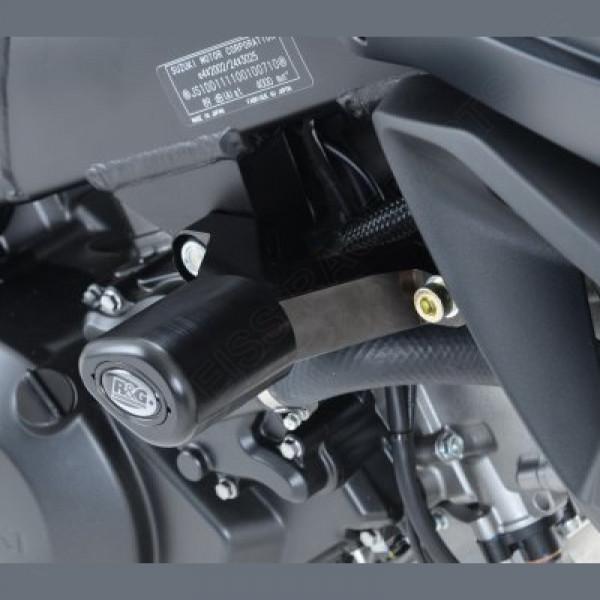 """R&G Racing Crash Protectors """"No Cut"""" Suzuki DL 1000 V-Strom 2014-"""